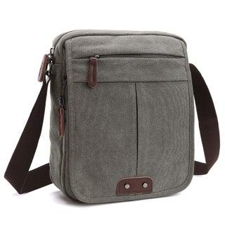 Dasein Vintage Front Snap Flap Unisex Canvas Messenger Bag/Crossbody