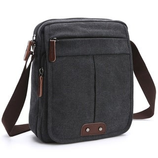 Dasein Vintage Front Snap Flap Unisex Canvas Messenger Bag/Crossbody (More options available)