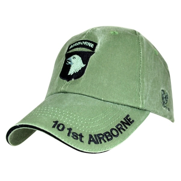 0a20923adc7 Shop US Army 101st Airborne Division Green Military Cap - Free Shipping On  Orders Over  45 - Overstock.com - 20834194