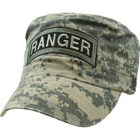 US Army Ranger Flat Top Military Cap Digital Camouflage Print