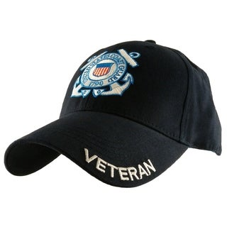US Coast Guard Veteran Navy Blue Military Cap