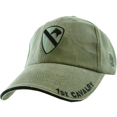 US Army 1st Cavalry Division Green Military Cap