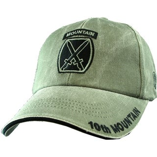 US Army 10th Mountain Division Green Military Cap