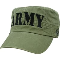 US Army Flat Top Green Military Cap