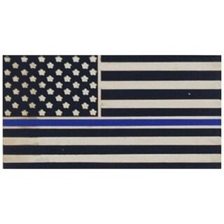 Police Blue Line Honor Flag Patriotic Lapel Pin