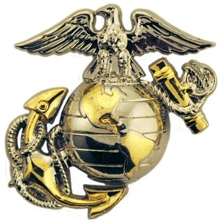 US Marine Corps Emblem B2 Left Collar Military Lapel Pin