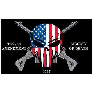 2nd Amendment Liberty or Death Patriotic Skull Flag