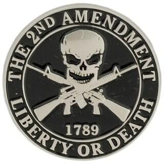 2nd Amendment Liberty or Death Military Lapel Pin