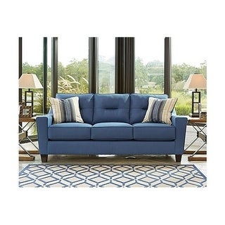 Signature Design by Ashley, Forsan Nuvella Contemporary Blue Sofa