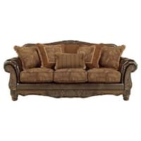 Signature Design by Ashley, Fresco DuraBlend Traditional Antique Sofa