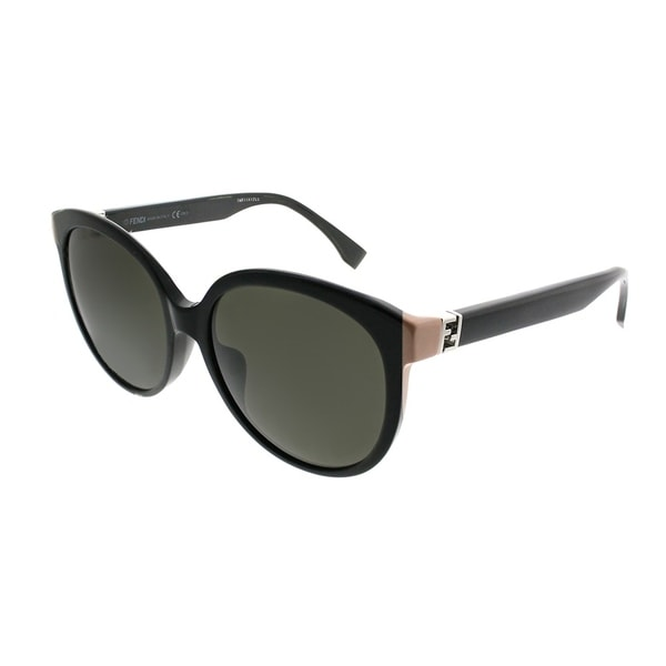 9e3d89e79f6 Fendi Round FF 0144 F The Fendista 29A Women Shiny Black Frame Grey  Gradient Lens