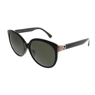 Womens Ff 0124/S Bn Sunglasses, Black (Shiny Black), 52 Fendi