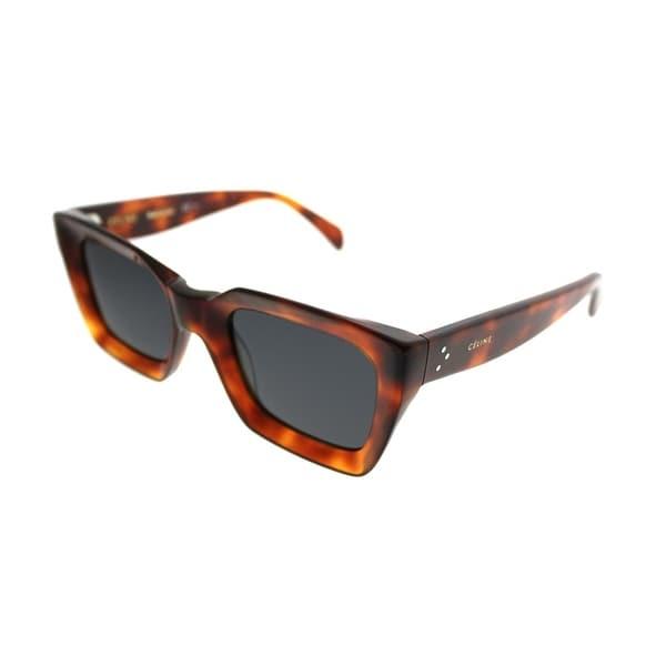 c3caee3f6f5 Celine Square CL 41450 Kate 086 IR Women Dark Havana Frame Grey Lens  Sunglasses