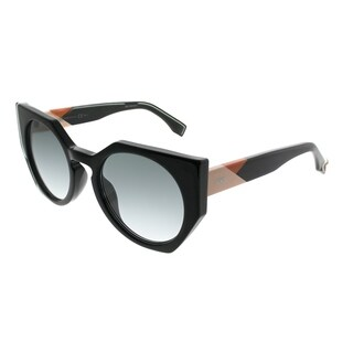 Fendi Cat-Eye FF 0151 Fendi Facets 807 Women Black Frame Grey Gradient Lens Sunglasses