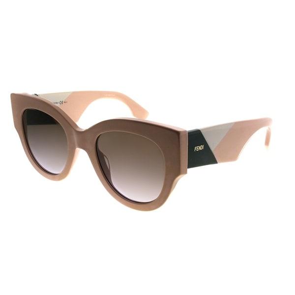 0b8f9b186f6 Fendi Cat-Eye FF 0264 Fendi Facets 35J Women Pink Frame Brown Gradient Lens  Sunglasses