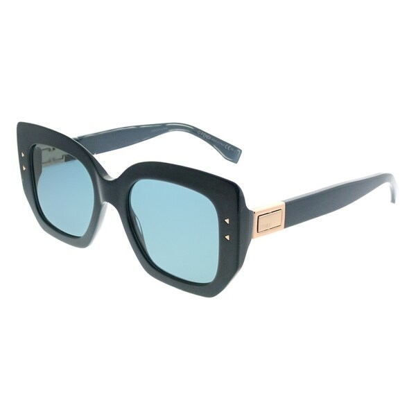e2a602a8b6c Fendi Square FF 0267 Peekaboo ZI9 Women Transparent Teal Tea Frame Blue  Avio Lens Sunglasses