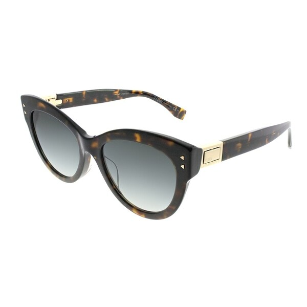 c4569ed97b7 Fendi Cat-Eye FF 0282 F Peekaboo 086 Women Dark Havana Frame Dark Grey