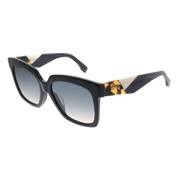 83a72acc5e2 Fendi Square FF 0284 F Fendi Facets PJP Women Blue Frame Blue Gradient Lens  Sunglasses