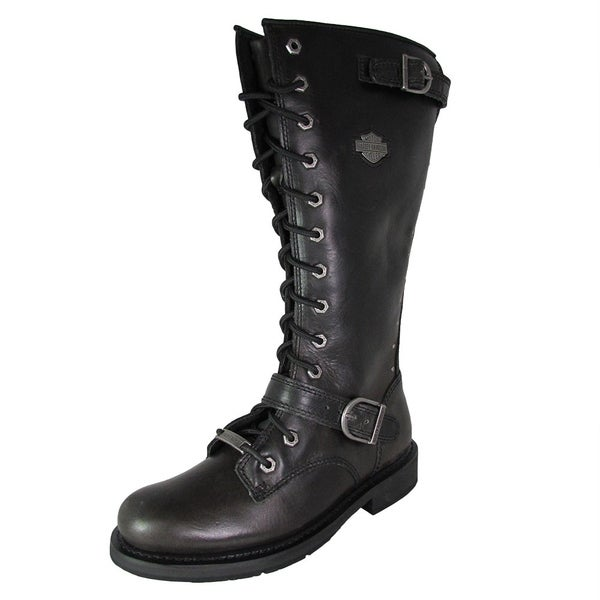 ac53dddb0f89d1 Shop Harley Davidson Womens Jill Tall Lace Up Motorcycle Boots ...