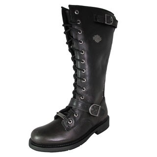 Harley Davidson Womens Jill Tall Lace Up Motorcycle Boots (More options available)