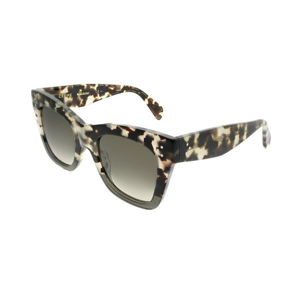 3ccccf9953 Celine Square CL 41090 Catherine VNO Womens Havana Grey Frame Brown Lens  Sunglasses