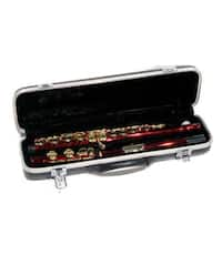 Red and Gold School Band Flute with Case