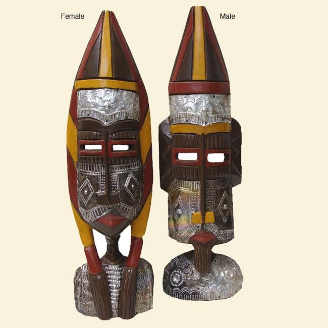 Fulani Wooden Sculpture, Handmade in , Handmade in Ghana