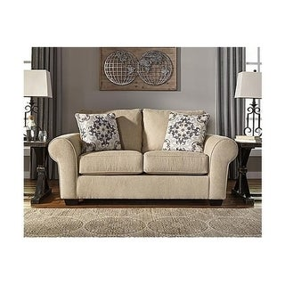 Signature Design by Ashley, Denitasse Casual Parchment Loveseat