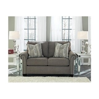 Signature Design by Ashley, Gilman Contemporary Charcoal Loveseat