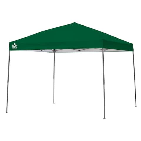 Quik Shade Expedition 10 x 10 Ft. Straight Leg Canopy Green Cover - Gray Frame