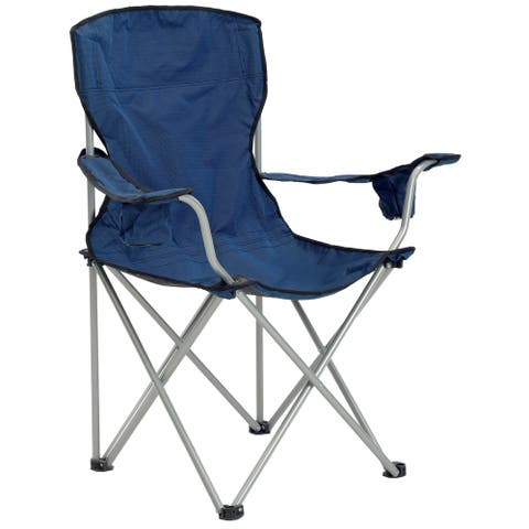 Quik Chair Deluxe Portable Chair Navy/Black Fabric with Silver Frame - Not Available