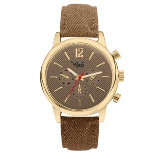 M Milano Expressions Denim Strap Watch (2 options available)