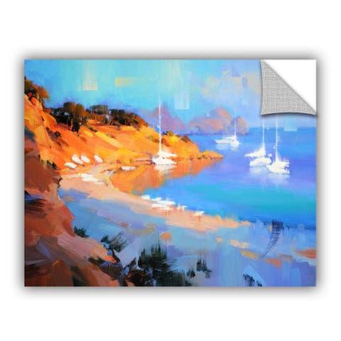 ArtWall Alex Hook Krioutchkov 'Evening Boats' Removable Wall Art