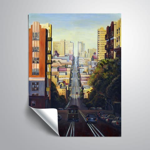 ArtWall Mica 'Up town funk' Removable Wall Art