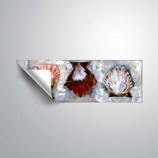 ArtWall Tara Daavettila 'Scallop Shell Trio' Removable Wall Art Mural - 8 x 24