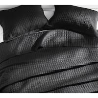 BYB Classic Supersoft Pre-Washed Cotton Quilt Set - Black