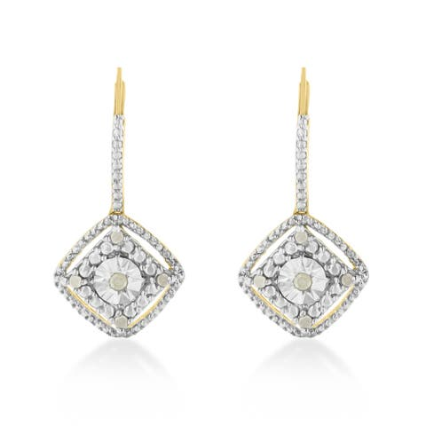 Sterling Silver 0.25ct TDW Rose Diamond Dangle Earring (I-J,I2-I3)