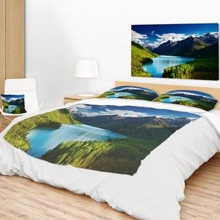 Designart 'Mountain Lake in Dark Shade' Landscape Photo Throw Blanket (2 options available)