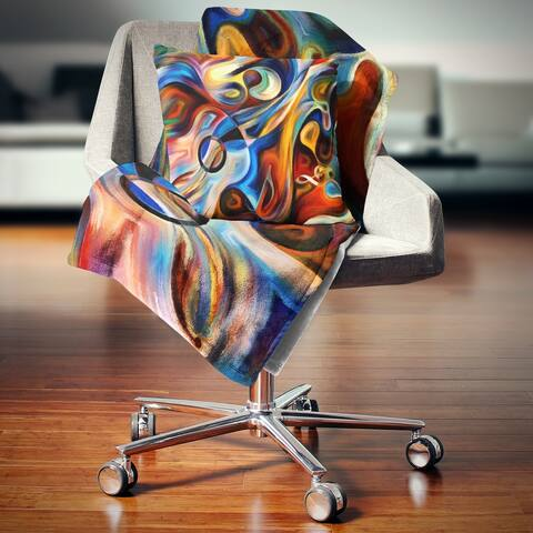 Designart 'Abstract Music and Rhythm' Abstract Throw Blanket