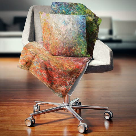 Designart 'Board Stained Abstract Art' Abstract Throw Blanket