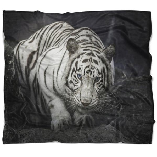 King Blanket Sherpa Fleece Plush Tiger Animal Print Modern Home Style Warm Cover