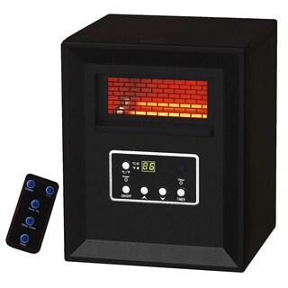 Pro Fusion Heat GD9215BCP-4J 1500 Watt Black Infrared Heater With 4 Tubes
