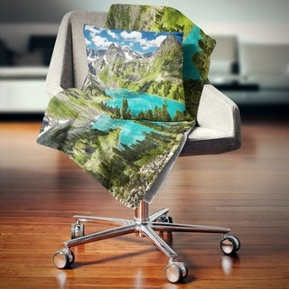Designart 'Mountain Lake and Blue Sky' Photography Throw Blanket (2 options available)