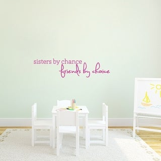 Sisters By Chance Wall Decal - MEDIUM