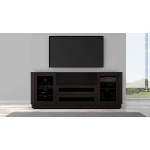 """78"""" Transitional TV Console in a wenge finish"""