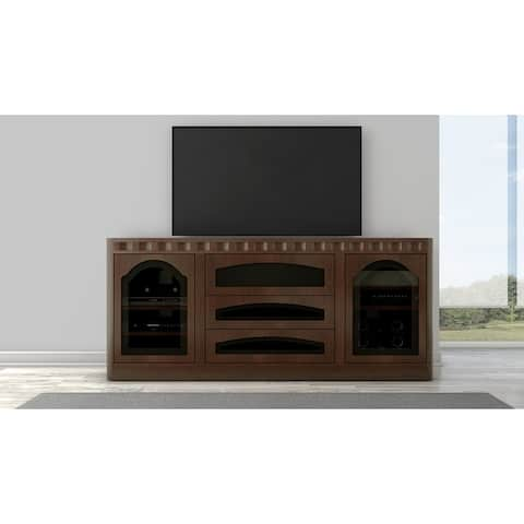 "78"" Transitional TV Console in a wenge finish"