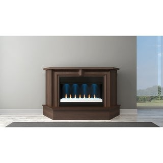 "67"" Transitional Electric Fireplace Mantel in Brazilian Cherry with a Cognac Finish"