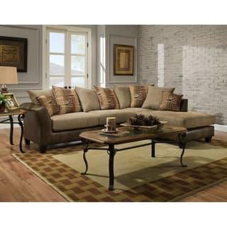 Sofatrendz Danville Tan Sectional Sofa