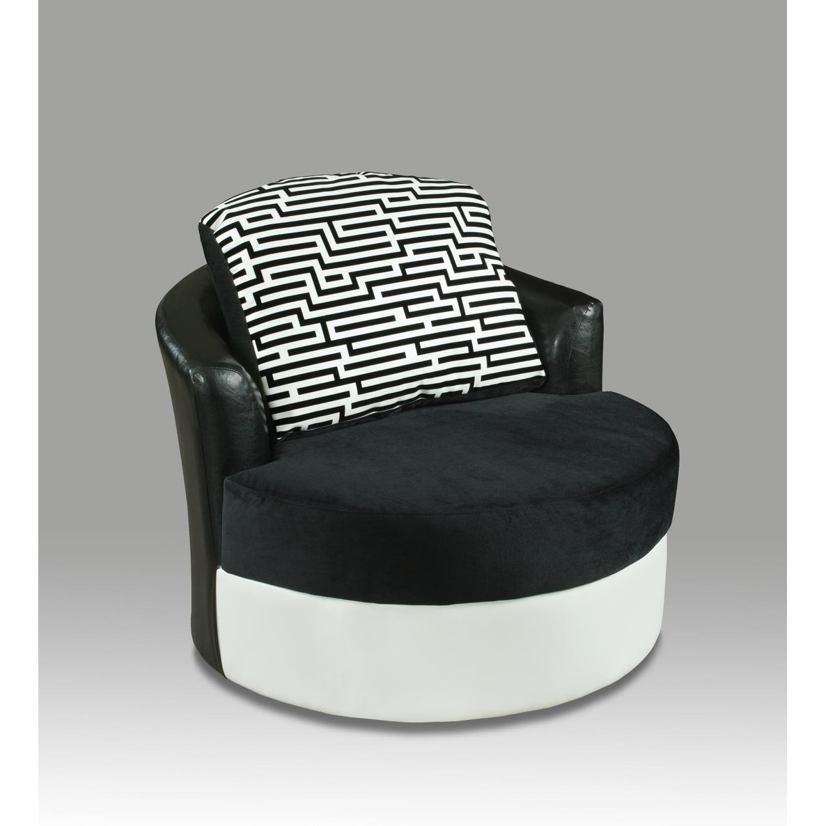 Astonishing Sofatrendz Donatella Zig Zag Black White Swivel Chair Short Links Chair Design For Home Short Linksinfo