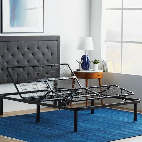 LUCID Comfort Collection Standard Adjustable Bed Base